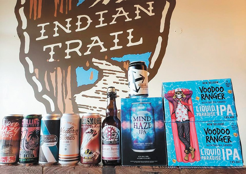 Happy Trails to Brews offers a variety of craft beer and cider.