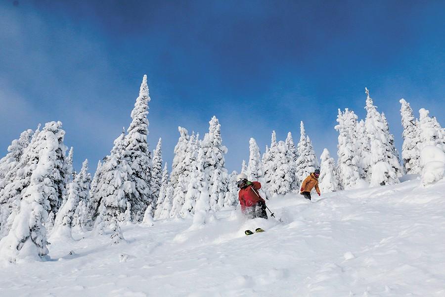 Good friends make the powder even fluffier. - WHITEFISH MOUNTAIN RESORT PHOTO