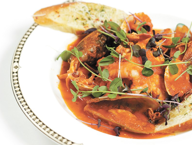 Pacific Northwest cioppino from Palm Court Grill