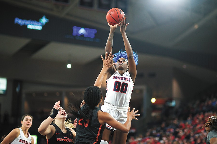 Zykera Rice is key to Zags' fortunes moving into March Madness. - MIKE WOOTTON PHOTO