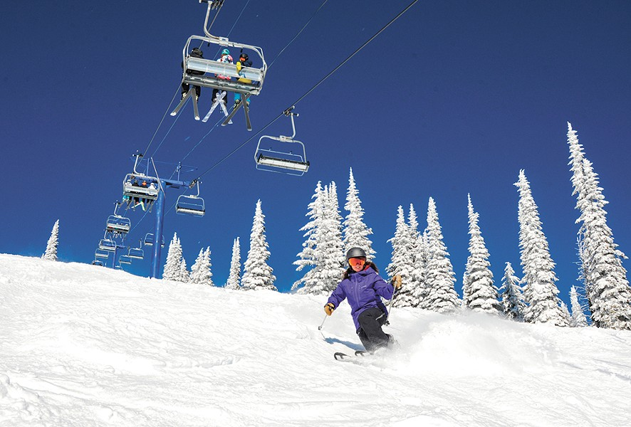 Schweitzer boasts 2,900 acres of skiable terrain.|SCHWEITZER MOUNTAIN RESORT photo - SCHWEITZER MOUNTAIN RESORT PHOTO