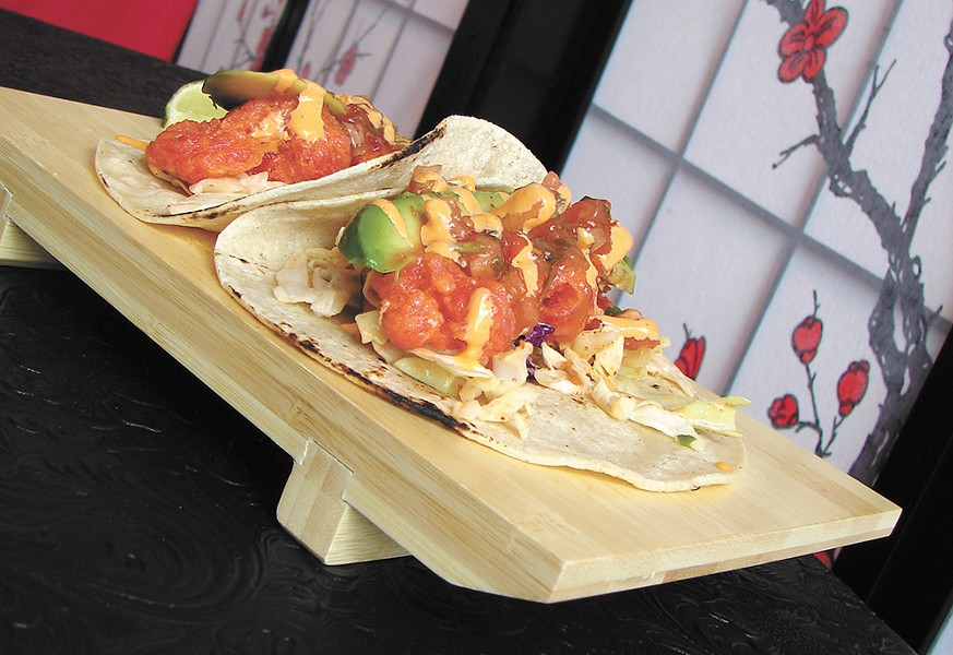 The fish tacos from Kyoko. - CARRIE SCOZZARO