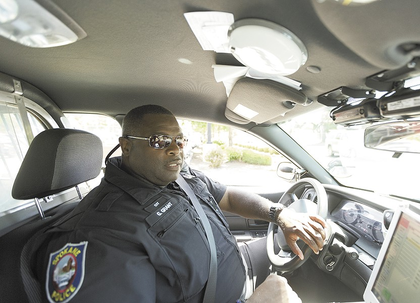 """Spokane Police Officer Gordon Grant takes a humanist approach to policing. """"I'm not a dick, but you're not going to run me over either."""" - YOUNG KWAK"""