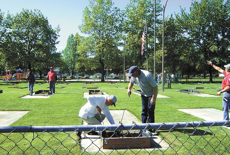 The Spokane Horseshoe Pitchers Association holds an annual tournament this weekend at Franklin Park.