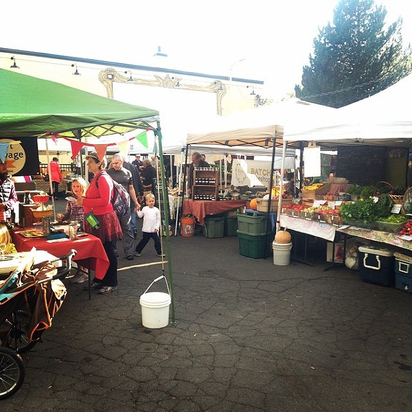 Scenes from the bustling Thursday Market in South Perry. - THURSDAY MARKET FACEBOOK