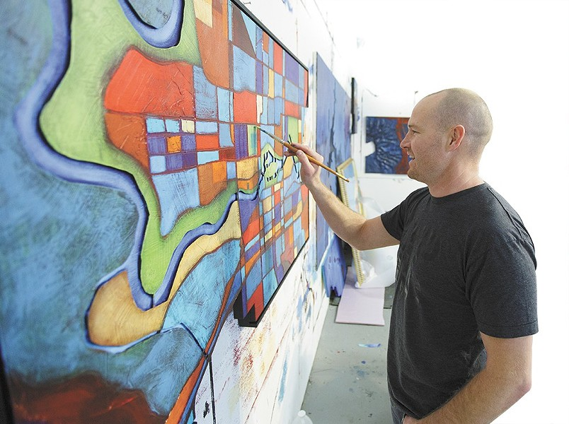 Ben Joyce at work in his Spokane studio. - YOUNG KWAK
