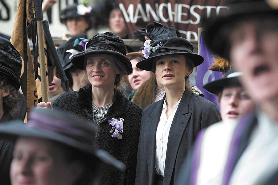Carey Mulligan (right) in Suffragette.