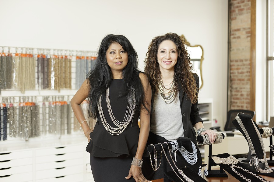 Millianna's founders Sharmilla Persaud, left, and Arianna Brooke, at their downtown Spokane showroom. - YOUNG KWAK
