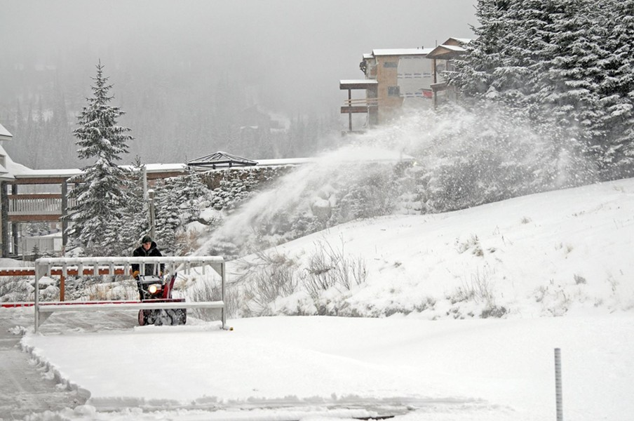 The scene earlier today at the North Idaho resort. - SCHWEITZER FACEBOOK