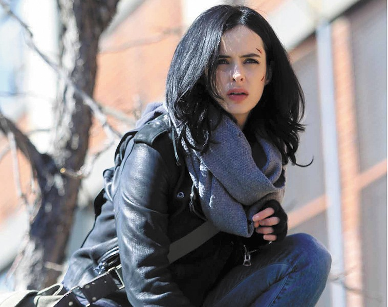 Krysten Ritter as Jessica Jones, a new face in the Marvel Universe.