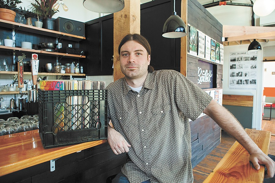 Charley Berryhill of Ramblin' Records & Vintage will offer about 5,000 records Saturday at The Bartlett for Record Store Day. - KRISTEN BLACK
