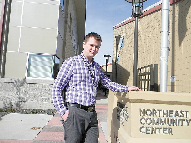 Kai Nevala stands outside of the health clinic at the Northeast Community Center, which he oversees. - JAKE THOMAS