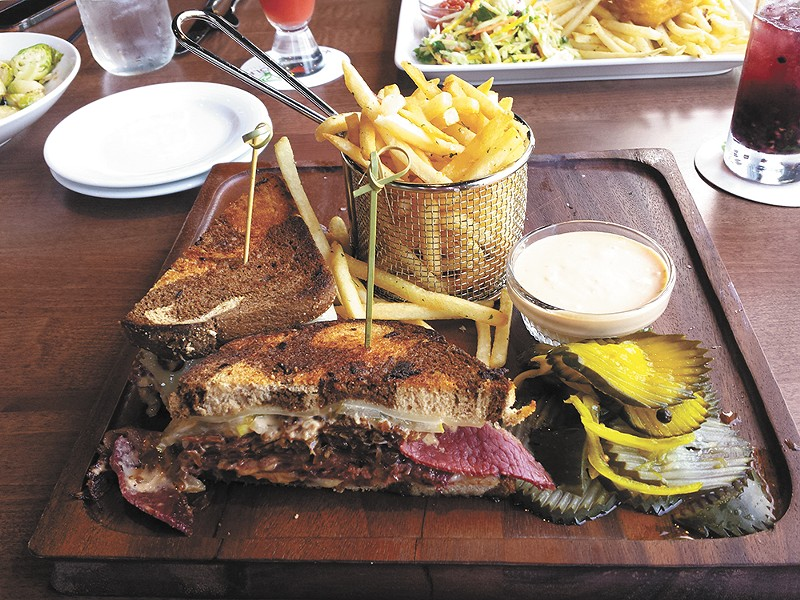 The Ultimate Reuben is one of the pub-style sandwiches available at 1898 Public House. - DAN NAILEN