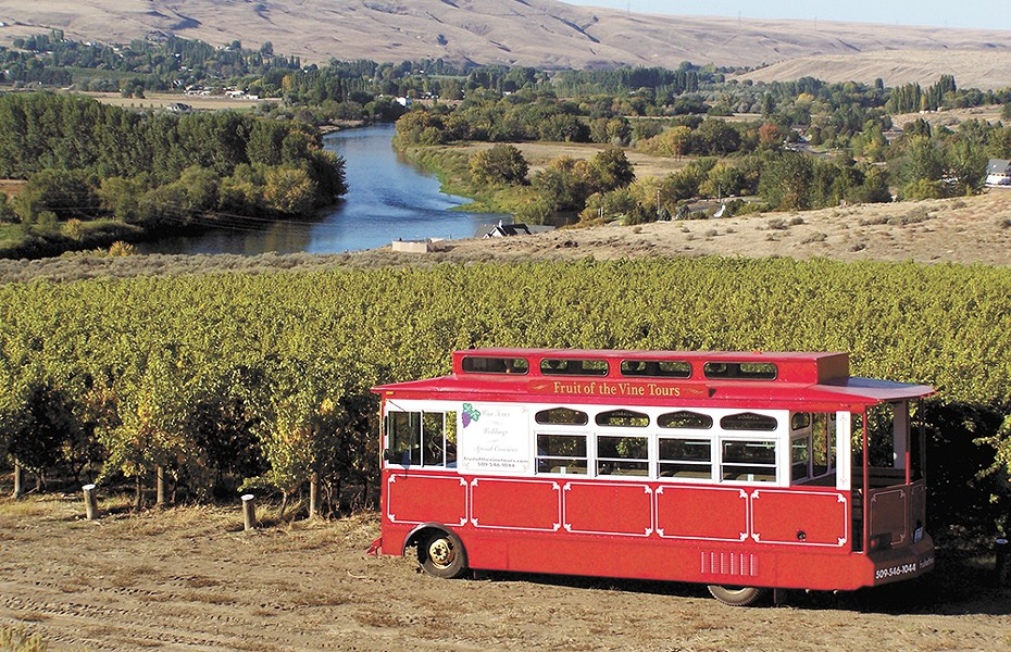 Chart your own course with Fruit of the Vine tours, running out of Benton City, Washington.