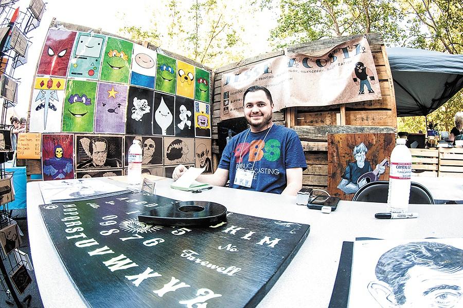 Artist Jesse Acosta showcased his art at Bazaar last June. - MEGHAN KIRK