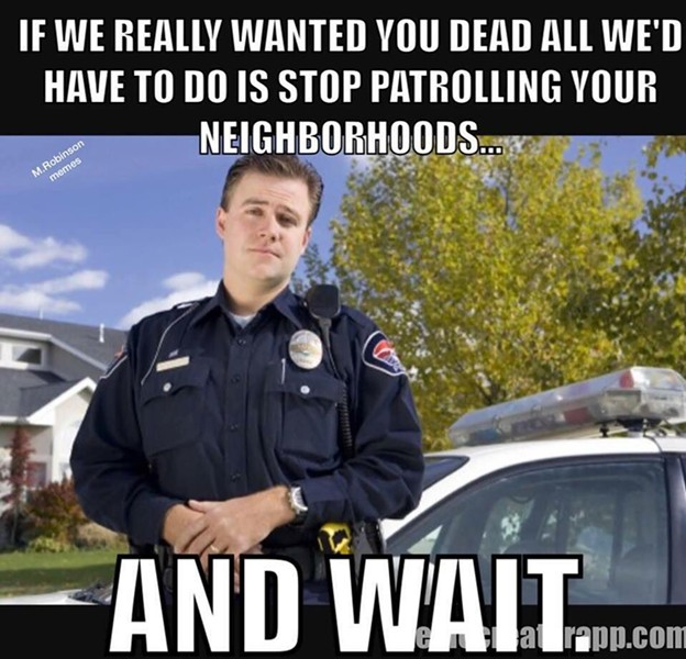 Do you think this meme is appropriate for a Kootenai County Deputy Prosecutor to be sharing approvingly? Discuss amongst yourself