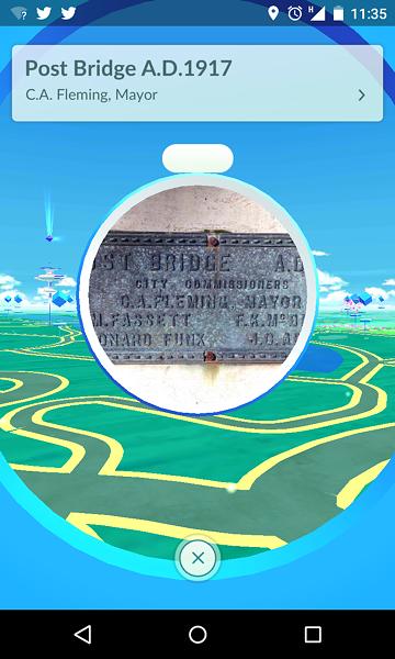 A PokeStop near the Post Street Bridge in downtown Spokane provides free, in-game resources like Poke Balls (needed to catch Pokemon) and Poke Eggs.