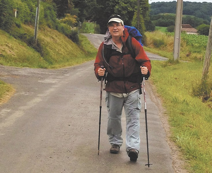 Fr. Kevin Codd took three trips to complete the Camino de Santiago trail, a 1,500-mile trek from Belgium to Spain.