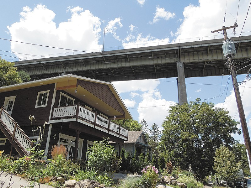 Peaceful Valley boasts an eclectic mix of historic homes, some under shadow of the Maple Street Bridge. - CHEY SCOTT
