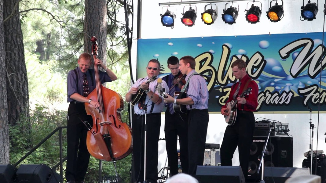 Kevin Pace and The Early Edition perform at the Blue Waters Bluegrass Festival in 2013.