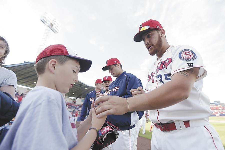 The Spokane Indians qualified for postseason play by winning the first half of their season. - YOUNG KWAK
