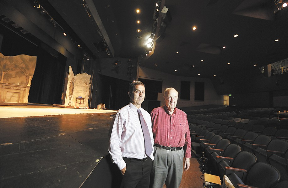 Spokane Civic Theatre CEO Mike Shannon, left, and Interim Artistic Director Jack Phillips. - YOUNG KWAK