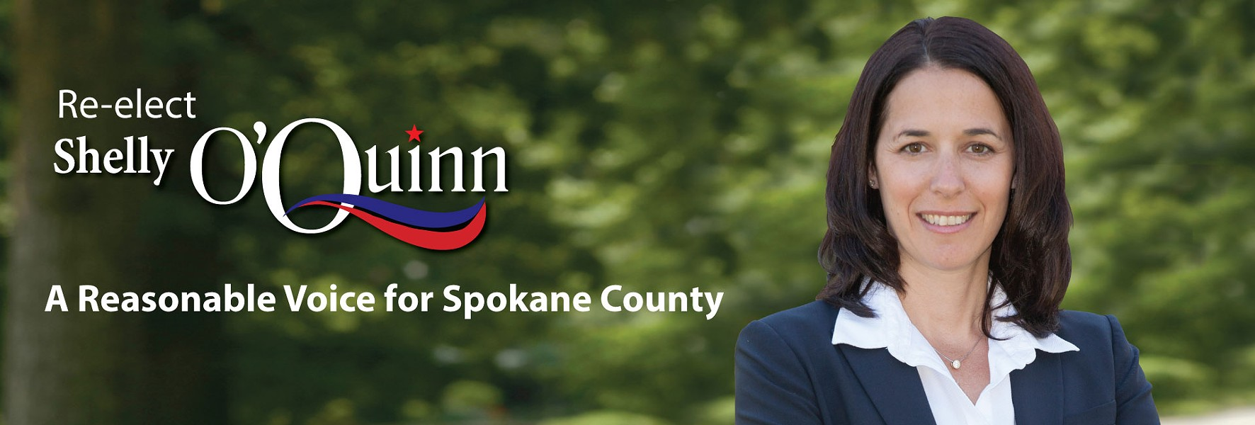 "Shelly O'Quinn's picture on her campaign website says she is a ""reasonable voice for Spokane County"""