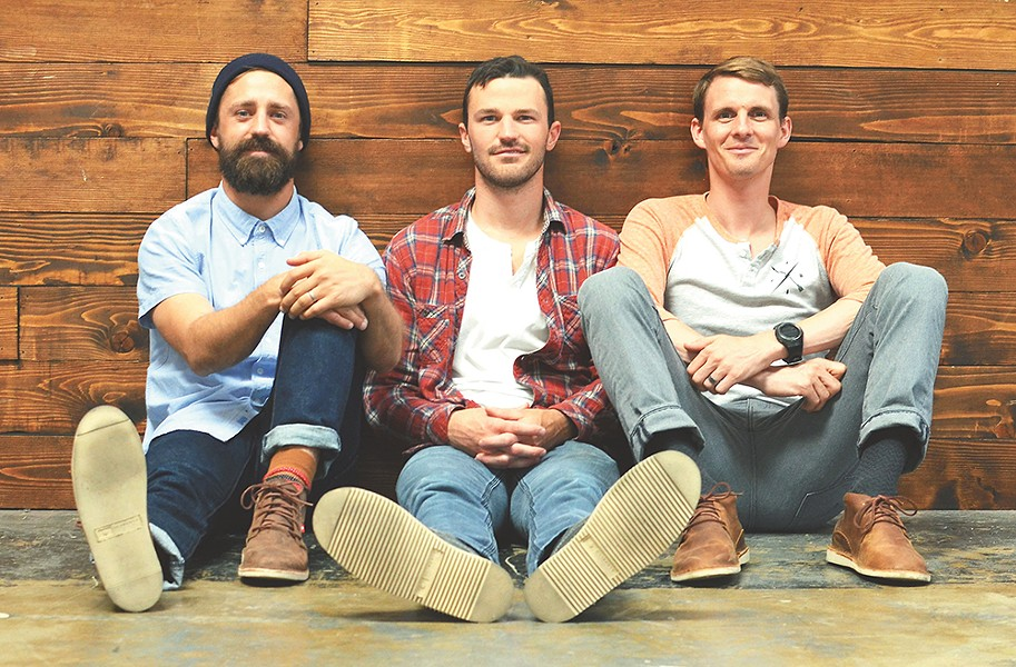 Krochet Kids International founders (from left: Kohl Crecelius, Stewart Ramsey and Travis Hartanov) started their nonprofit apparel line nearly 10 years ago. - YOUNG KWAK