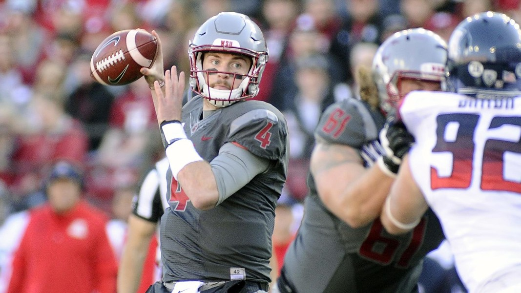 Quarterback Luke Falk tossed four TDs against Arizona. - WSU ATHLETICS