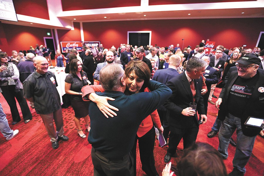 Cathy McMorris Rodgers heads back to Congress. - YOUNG KWAK