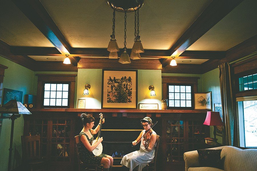 The Jablonsky sisters like the tradition of old-time music. - KRISTEN BLACK