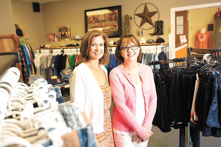 Teen Closet co-directors Robyn Nance (left) and Linda Rogers. - YOUNG KWAK
