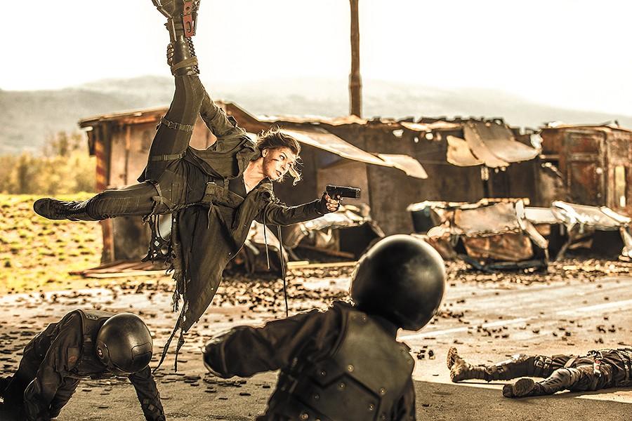 Upside: Milla Jovovich is a badass action hero.