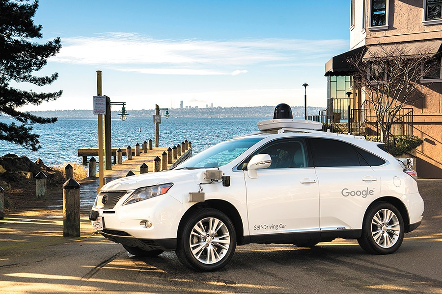 Waymo, formerly Google's self-driving project, is testing a car in Kirkland, Washington.