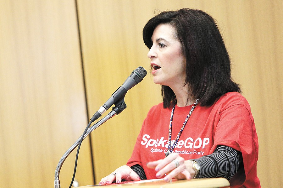 Stephanie Cates took over the local Republican Party this year. - YOUNG KWAK