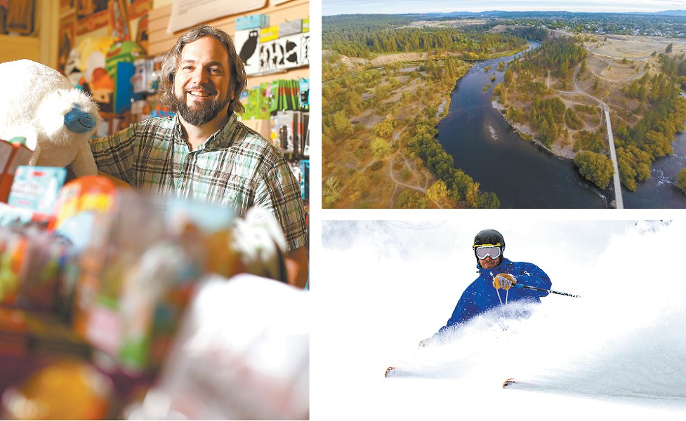 You've got options: Shop for quirky gifts at Boo Radley's, check out the Spokane River, or shred our local ski resorts.