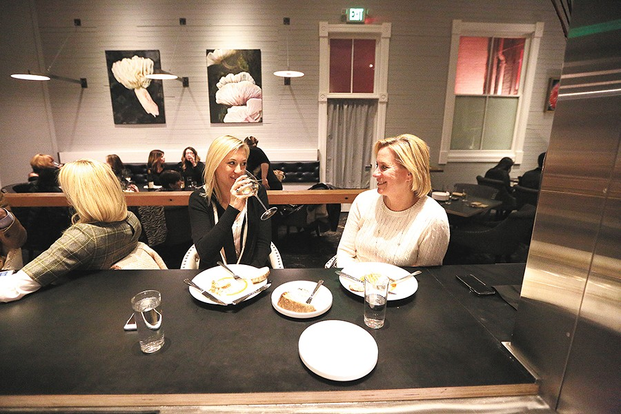 Melanie Weigand, left, and her mother Diane Weigand sampled Inland Pacific Kitchen's three-course options for Inlander Restaurant Week. - YOUNG KWAK