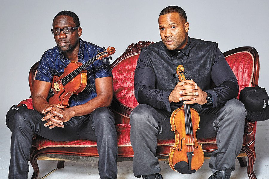 Wilner Baptiste, aka Wil B (left), and Kevin Sylvester, aka Kev Marcus, of Black Violin. - COLIN BRENNAN