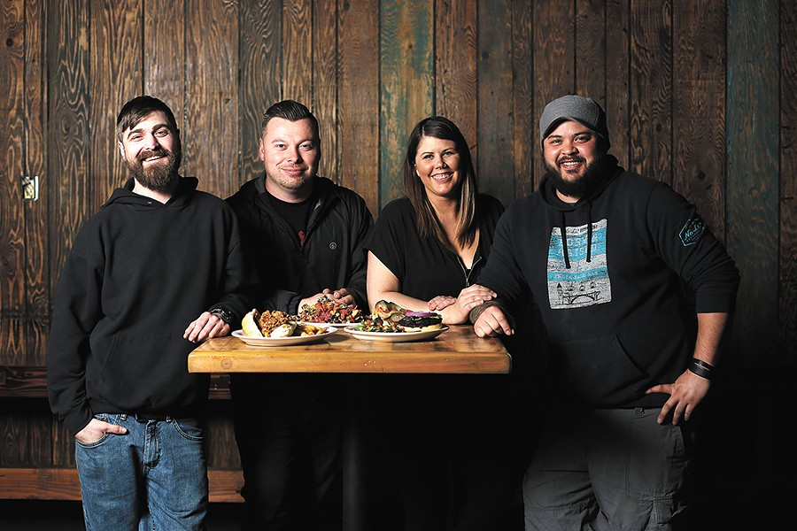Co-owners (from left) Greg Healy, Darin Talotti, Krista Christofferson and Steven Barclay teamed up to bring the Viking pub back to life. - YOUNG KWAK