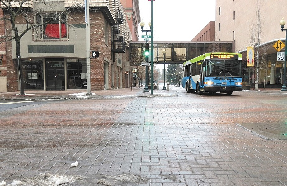 The budget ax has spared the Central City Line, a high-frequency electric bus route.