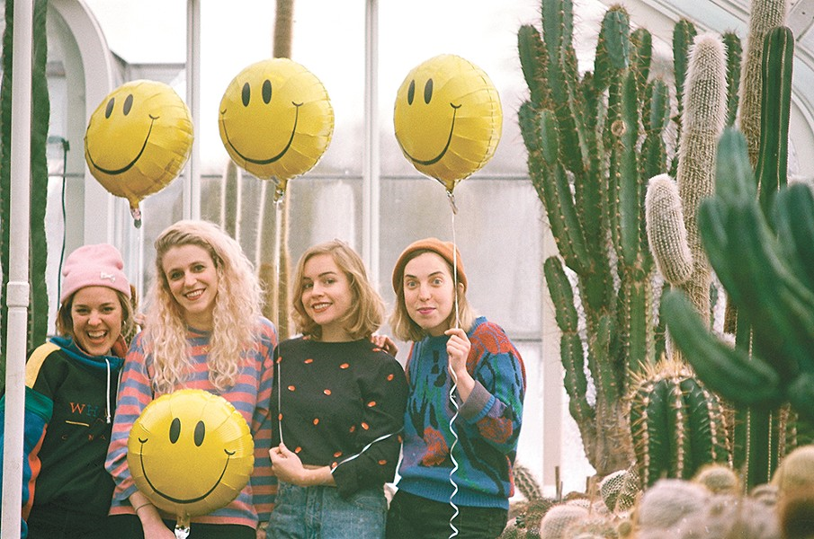 Julia Shapiro (second from left) and the rest of Chastity Belt.