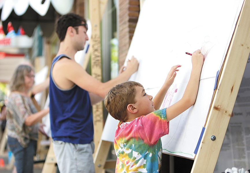 Check out Art on the Street on Saturdays through Aug. 26.