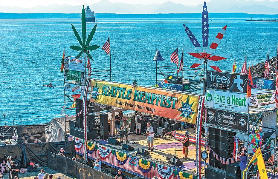 Seattle Hempfest runs Aug. 18-20. - GREG SHAW