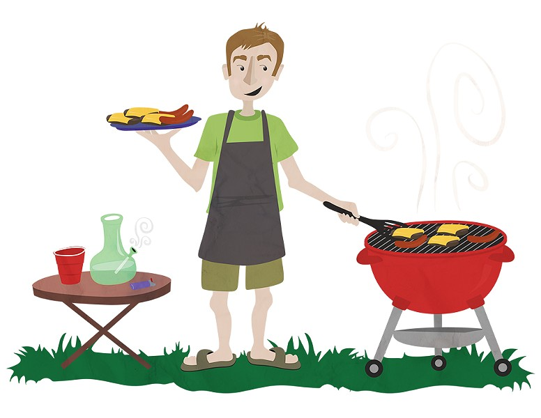 You want to keep your head clear enough to grill — but not that clear. - ALI BLACKWOOD ILLUSTRATION