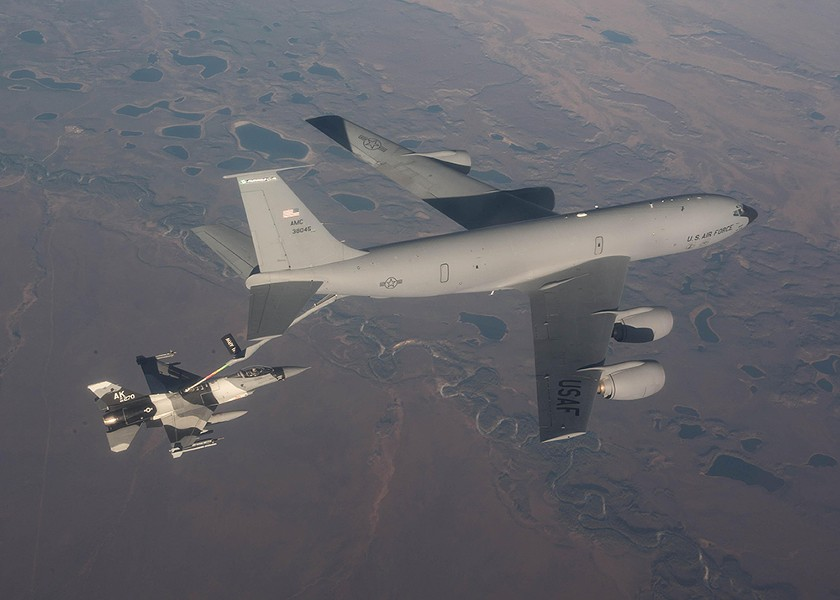 KC-135s are known as the gas stations of the sky. - U.S. AIR FORCE