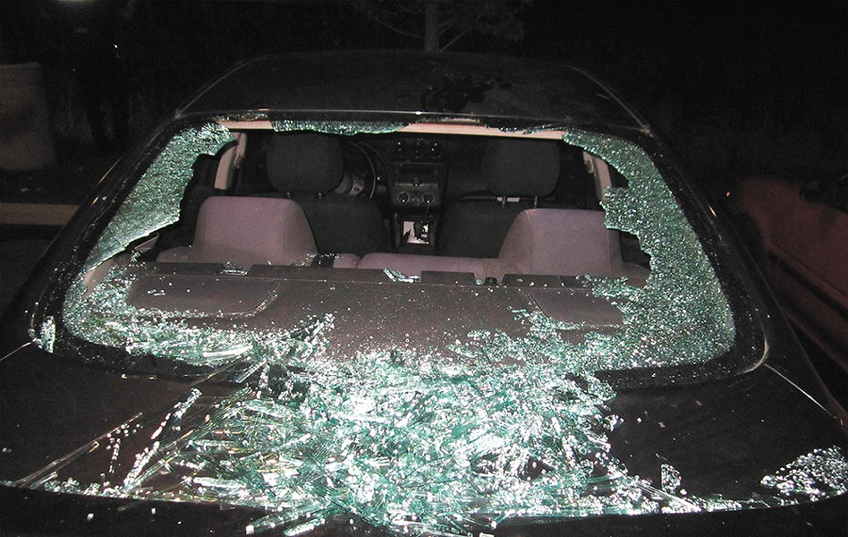 A smashed car window sparked the brutal beating.