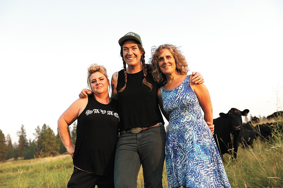 Chef Molly Patrick (left), rancher Beth Robinette (center) and food organizer Teri McKenzie join forces for an upcoming farm-to-table dinner. - YOUNG KWAK