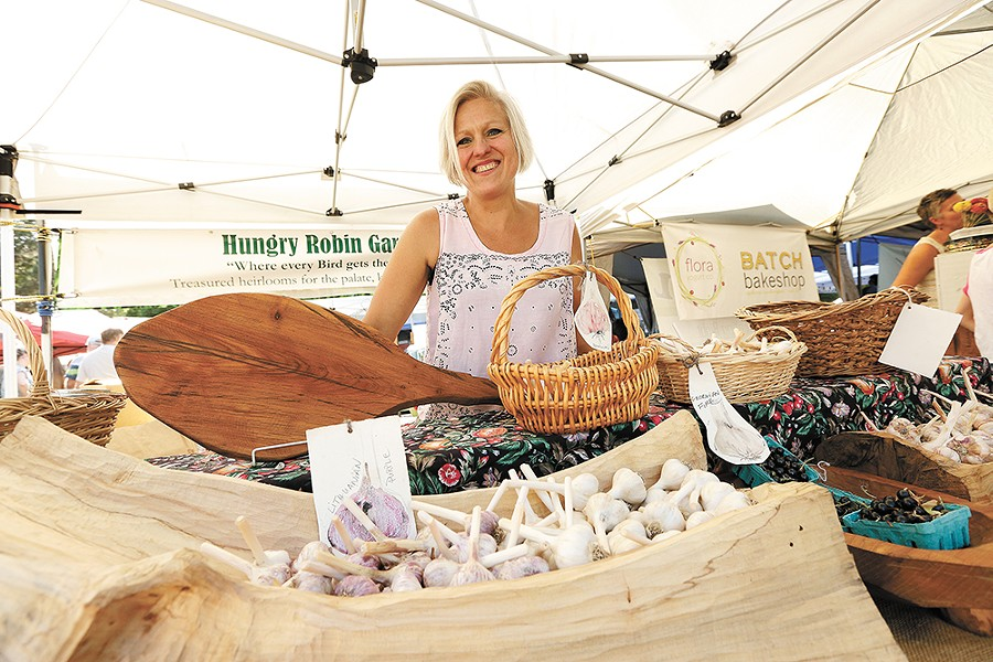 Lena Lopez Schindler sells several lesser-known garlic varieties at local farmers markets. - YOUNG KWAK