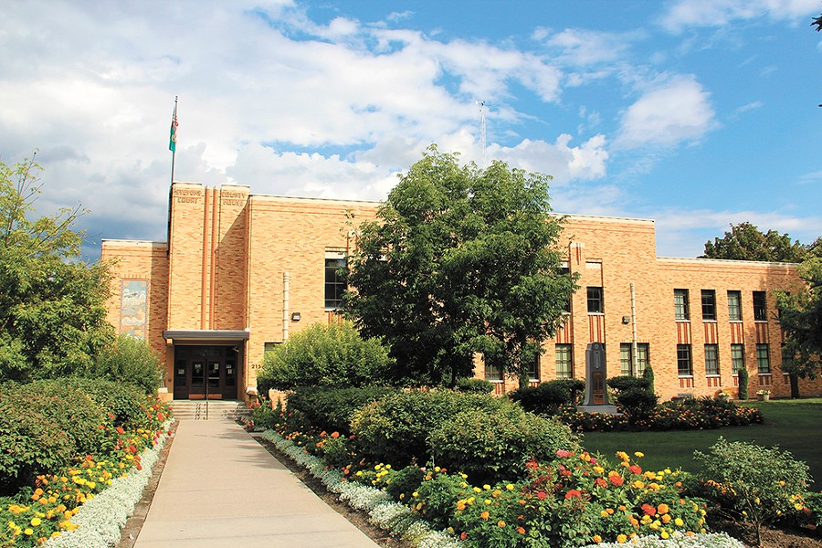 The Stevens County Courthouse handles cases for the entire county of about 45,000 people. - C HANCHEY