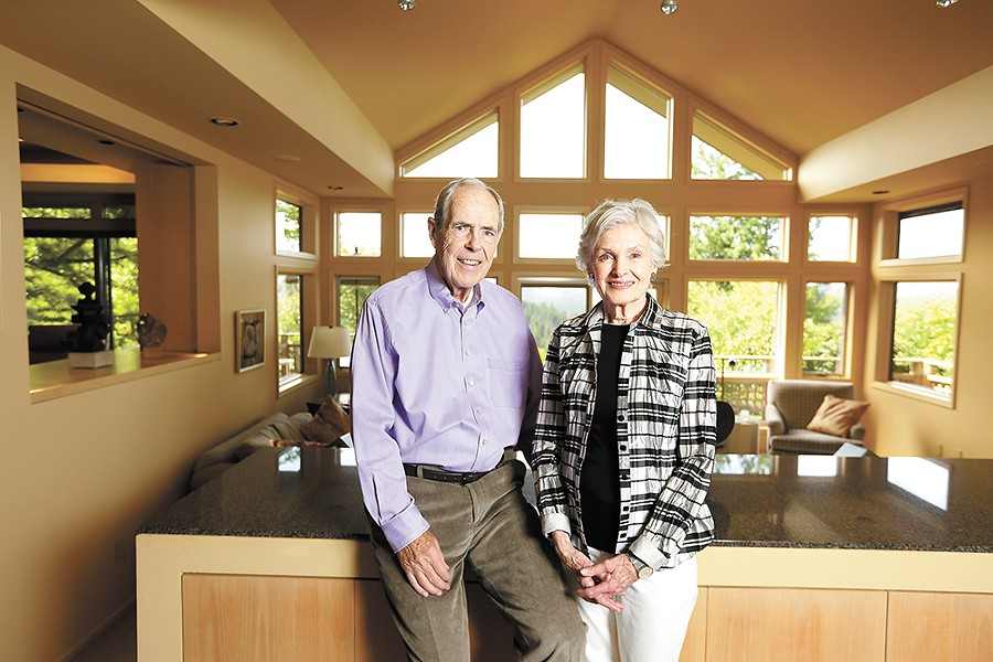 Dave and Mari Clack at their South Hill home. - YOUNG KWAK